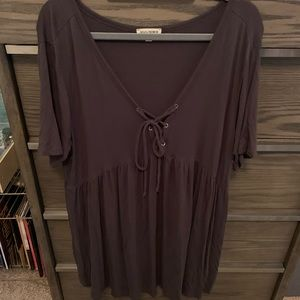 2XL Babydoll Tie-Up Top